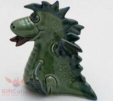 Porcelain smiling Dragon figurine handmade