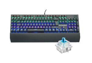 KM-Gaming K-GK2 mechanische Alu RGB USB Tastatur CherryMX Blue Switches / DE