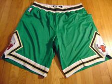 ADIDAS NBA AUTHENTIC CHICAGO BULLS ST. PATRICK'S DAY GREEN GAME SHORTS SIZE 3XL