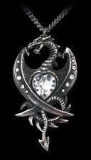 Alchemy Gothic Halskette - Diamond Heart - Fantasy Drachen Halsschmuck Kette