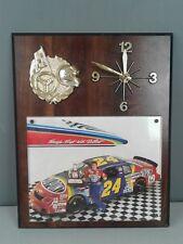 Vintage #24 Jeff Gordon wooden clock non functioning