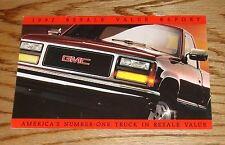 Original 1992 GMC Truck Resale Value Report Sales Brochure 92