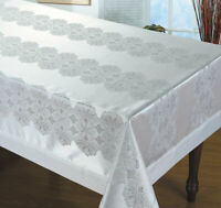 Luxury Tablecloth Non-Iron Stain white / cream size 60x95 60x134