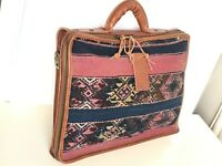 NEW THE MADLY BURROUGHS NOMAD LEATHER BROWN BRIEFCASE LAPTOP BAG $375 NWT