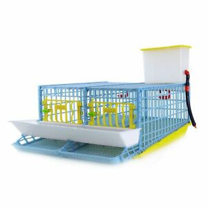 Quail Cage: 2 Section (10 - 14 Quail) | Hygienic, Easy to Clean, Durable Plastic