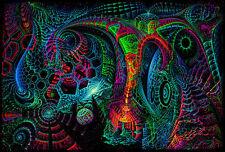 UV Backdrop Microcosm Psy Deko Wandbehang 1m x 1,5m Hippie Goa Tuch Kunst Bild