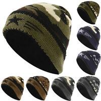 Men Women Unisex Knit Winter Ski Hat Slouchy Camouflage Beanie Skull Cap NewC Nd