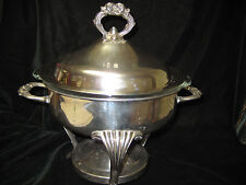 VINTAGE SILVERPLATE 3 PC SERVER/STAMPED ENGLISH SILVER MFG CORP BY LENARD SILVER