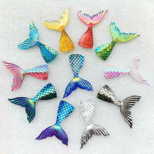 Hot 28*40mm Mermaid Fish Scales Tail Resin Wedding Exhibition DIY Jewelry
