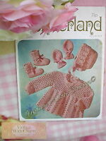 Vintage Crochet Pattern For Baby Girls Angel Top Set.  ONLY £2.49 + FREE P&P!