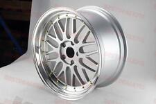 "18X8.5"" LM STYLE SILVER/GOLD RIVET RIMS FITS BMW 11+ 5 SERIES F10 E90 E92"
