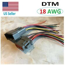 18 AWG Deutsch DTM 12 Pin Automotive Wire Waterproof Connector