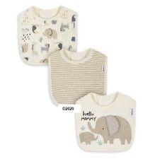 Gerber Baby Boy Or Girl Unisex 3-Pack Safari Elephant Organic Cotton Bibs