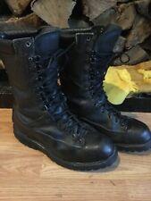 Matterhorn Black Leather Combat Boots, Gore-Tex, Men's 8.5 W!