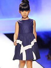 IL GUFO edles Sommer Kleid navy blue mit Streifen Gr.12/152 NEU %SALE%