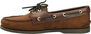 Sperry Men's Authentic Original A/O Boat Shoe, Brown Leather, Men Size 9 M NEW
