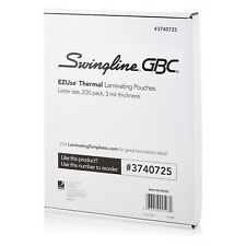 Swingline GBC Thermal Laminating Sheets / Pouches, Letter Size 3 Mil, Clear, ...