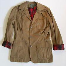 VTG Ralph Lauren Country Khaki Safari/ Field Jacket Plaid Lining Sz 6