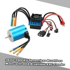 Best 3650 3900KV Sensorless Brushless Motor with 60A ESC for 1/10 RC Car