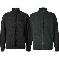 Mens M&S Textured Full Zip Up Funnel Long Sleeve Cardigan Jumper Mark & Spencer