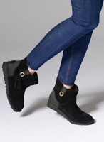 UGG Gib Black Suede Leather Classic Tassel Low Ankle Boots UK 5.5 38 £135