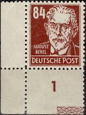 84 Pfg. Köpfe I, postfrische Bogenecke mit Bordüre am UR (MiNr. 227 RL)