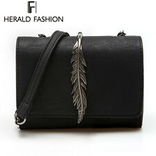 Leaves Decorated Mini Girl Flap Bag Suede Women Shoulder Chain Messenger Bags
