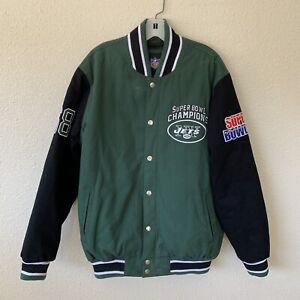 vintage GIII apparel group L NFL varsity jacket 68 superbowl champs NY Jets Mint