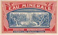 Vintage Eau Minerale Belgian Mineral Water Label - Belgium