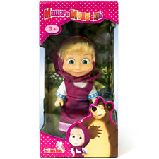 SIMBA Masha and The Bear, Doll, In Raspberry Sundress, Gift Box, Cartoon Charact