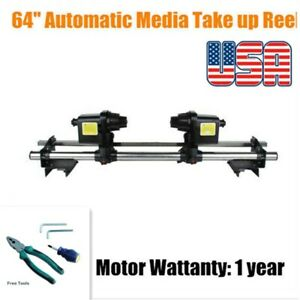 "US 110V 64"" Auto Take up Reel System Paper Receiver Mutoh/ Mimaki/ Roland/ Epson"