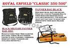 Royal Enfield Classic 350 500 Black Military Pannier Bag & Fitting