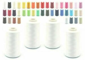5000 YARD OVERLOCKER SEWING MACHINE THREAD COTTON 2 for£5, 4 for£7.50, 10 for£16