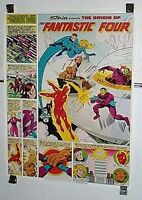 "1980 Coca Cola Coke Marvel Comics 28 by 22"" Fantastic Four poster 1: Marvelmania"