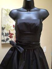 Davids Bridal Black Bridesmaid Dress Sz 2 shiny Prom Cocktail little black dress