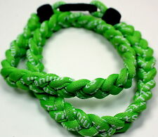 "Kids 18"" All Lime Neon Green Titanium Sports Necklace Tornado Baseball"