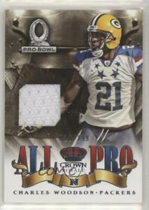 2013 Panini Crown Royale All Pro Materials /299 Charles Woodson #4 HOF