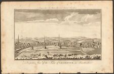 More details for 1779 ca antique print- leicestershire - perspective,  town of leicester