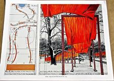 Christo & Jean Claude of The Gates Project Poster 6 Offset Lithograph 14x11