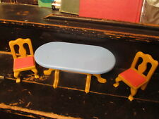 Little Tikes doll house table and 2 chairs  NICE