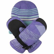 Free Country Kids' Hat and Mitten Set 3M Thinsulate Insulation Extra Warmth