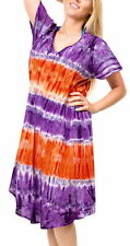 LA LEELA Women Summer Beach Casual Dress Swimwear Cover Up US 14-20W Purple_H692