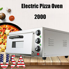 Electric Pizza Oven Baking Cake Bread Roasted Pies Home Countertop Single Desk