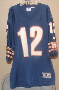 Chicago Bears NFL Starter Vintage Blue Erik Kramer #12 size 46 Football Jersey