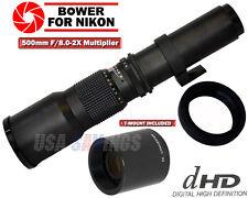 500mm/1000mm TELEPHOTO LENS for NIKON D7000 D5200 D90 D80 D70 D60 D40 D40X
