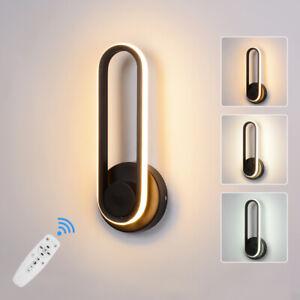 Wandlampe LED dimmbar modern 2W-12W Schalter 230V Aluminium APP+Fernbedienung DE