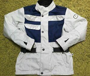 BMW Original Motorcycle Armoured Jacket Grey/Blue Size S Mint IEV