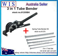 3 in 1 Tube Bender and 5 Sizes Spring Bender Plumbing A/C Aluminium Copper Pipe
