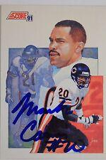 Mark Carrier Chicago Bears Autographed 1991 Signed Score Leader #668 16J
