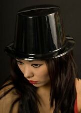 Black Plastic Gothic Vampire Top Hat